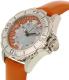 Invicta Women's Pro Diver 18491 Orange Leather Quartz Watch - Side Image Swatch