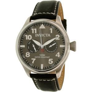 Invicta Men's I-Force 18512 Black Leather Quartz Watch