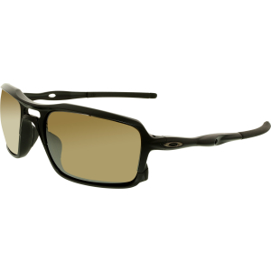 Oakley Men's Polarized Triggerman OO9266-05 Black Rectangle Sunglasses