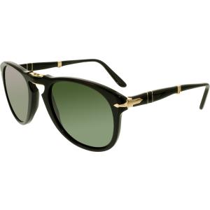 Persol Men's  PO0714-95/31-54 Black Oval Sunglasses