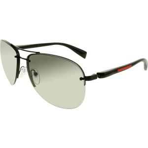 Prada Men's Gradient  PS56MS-1BO3M1-65 Black Aviator Sunglasses