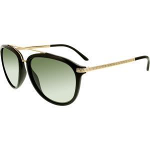 Versace Women's Polarized  VE4299-GB1/9A-58 Black Oval Sunglasses