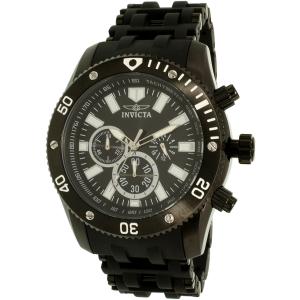 Invicta Men's Sea Spider 14862 Black Silicone Quartz Watch
