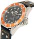 Invicta Men's Pro Diver 22071 Black Leather Quartz Watch - Side Image Swatch