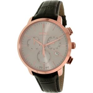 Hugo Boss Men's 1513264 Black Leather Swiss Quartz Watch