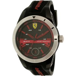 Ferrari Men's 0830253 Black Silicone Quartz Watch