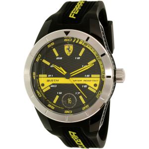 Ferrari Men's Redrev T 0830277 Black Silicone Quartz Watch