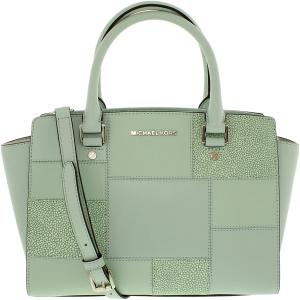 Michael Kors Women's Medium Selma Top Zip Leather Top-Handle Satchel