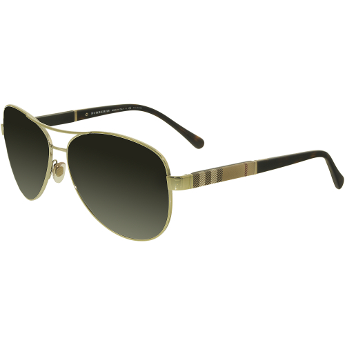 af7f9b181c8 ... EAN 8053672366686 product image for Burberry Men s Polarized BE3080 -1145T5-59 Gold Aviator Sunglasses