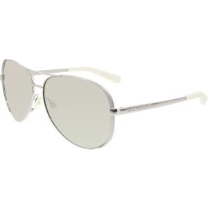 Michael Kors Women's Mirrored Chelsea MK5004-1001Z3-59 Silver Oval Sunglasses