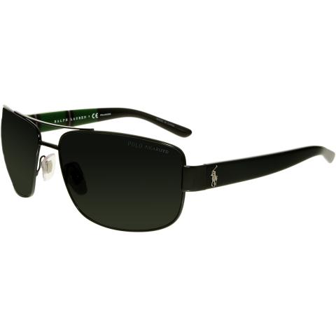 Polo Men's Polarized PH3087-926781-64 Black Rectangle Sunglasses