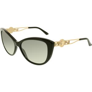 Versace Women's  VE4295-GB1/11-57 Black Cat Eye Sunglasses