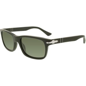 Persol Men's Polarized  PO3048S-900058-55 Black Square Sunglasses