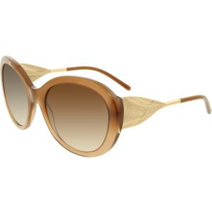 Burberry Women's Gradient  BE4191-317313-57 Brown Round Sunglasses