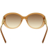Burberry Women's Gradient  BE4191-317313-57 Brown Round Sunglasses - Back Image Swatch