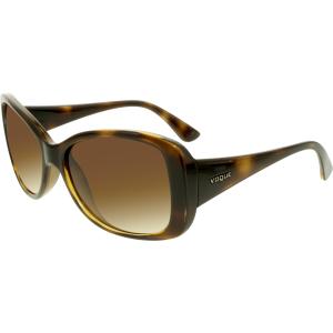 Vogue Women's Gradient  VO2843S-W65613-56 Brown Butterfly Sunglasses