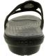 Crocs Women's Sanrah Circle Sandal Ankle-High Rubber Sandal - Back Image Swatch