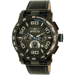 Invicta Men's 15906 Black Leather Quartz Watch