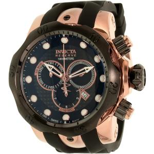 Invicta Men's 0361 Black Rubber Swiss Chronograph Watch