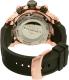 Invicta Men's 0361 Black Rubber Swiss Chronograph Watch - Back Image Swatch