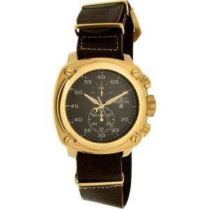 Invicta Men's 20059SYB Brown Leather Quartz Watch