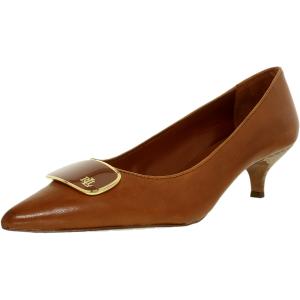 Lauren Ralph Lauren Women's Abina-Pm-Drs Leather Ankle-High Leather Pump