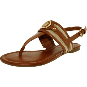 Tommy Hilfiger Women's Shane Leather Ankle-High Leather Sandal