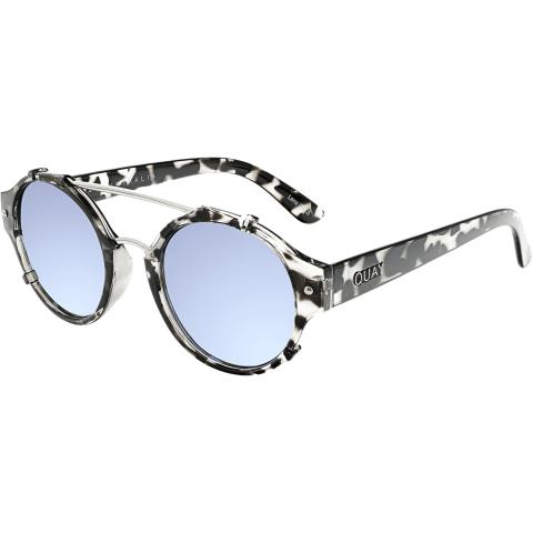Quay Women's Mirrored It's A Sin QU-000114-BLKTO/BLUE Grey Round Sunglasses