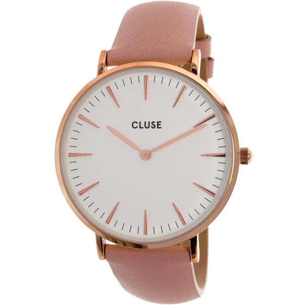 cluse women 39 s la boheme cl18014 rose gold leather quartz watch. Black Bedroom Furniture Sets. Home Design Ideas