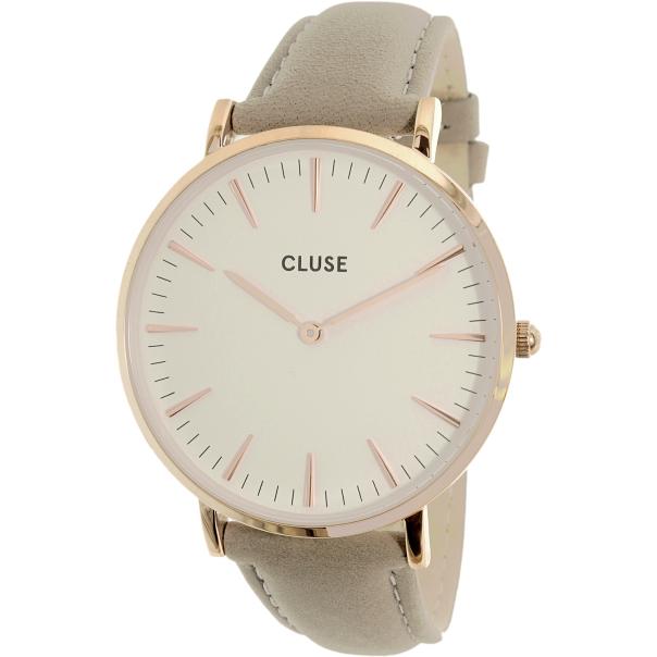 cluse women 39 s la boheme cl18015 rose gold leather quartz watch. Black Bedroom Furniture Sets. Home Design Ideas