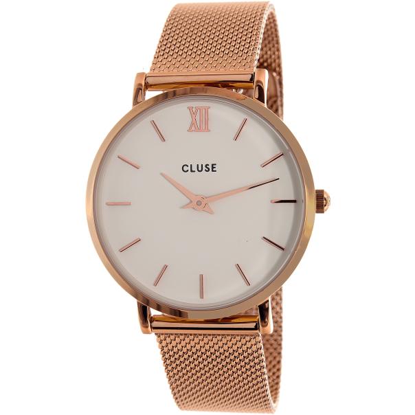 cluse women 39 s minuit mesh cl30013 rose gold stainless steel quartz watch. Black Bedroom Furniture Sets. Home Design Ideas