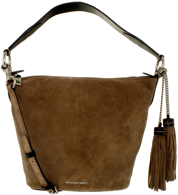 michael kors women 39 s medium elana convertible bag suede shoulder hobo ebay. Black Bedroom Furniture Sets. Home Design Ideas