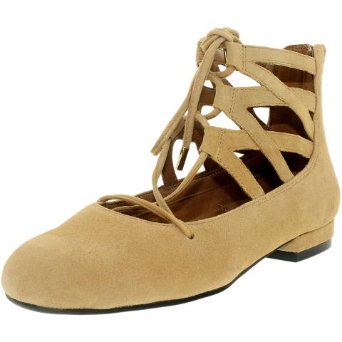 Aerosoles Women's Goodness Suede Ankle-High Ballet Flat