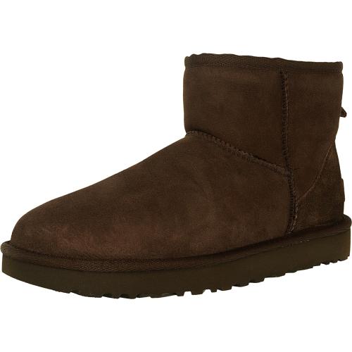Ugg Women's Classic Mini II Leather Chocolate Ankle-High Sue