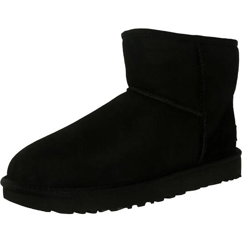 Ugg Women's Classic Mini II Leather Black Ankle-High Suede B