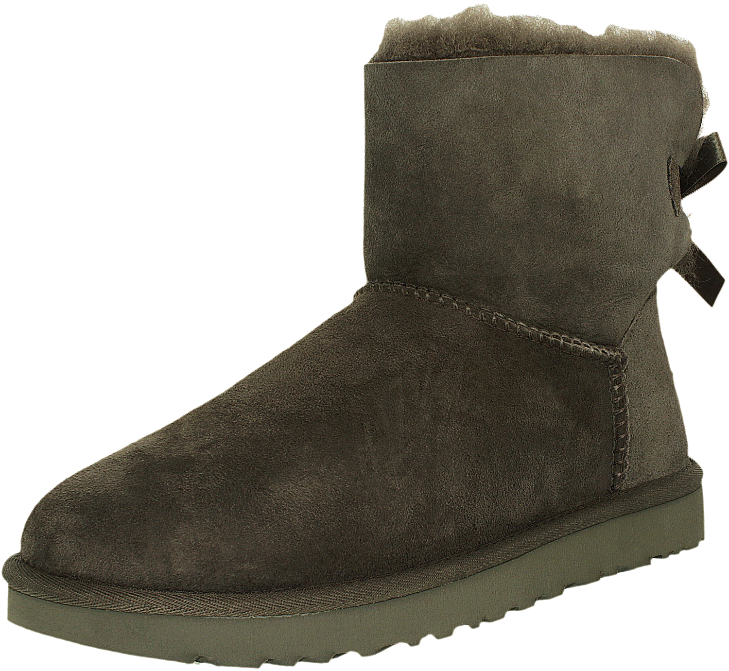 ugg women 39 s mini bailey bow ankle high suede boot. Black Bedroom Furniture Sets. Home Design Ideas