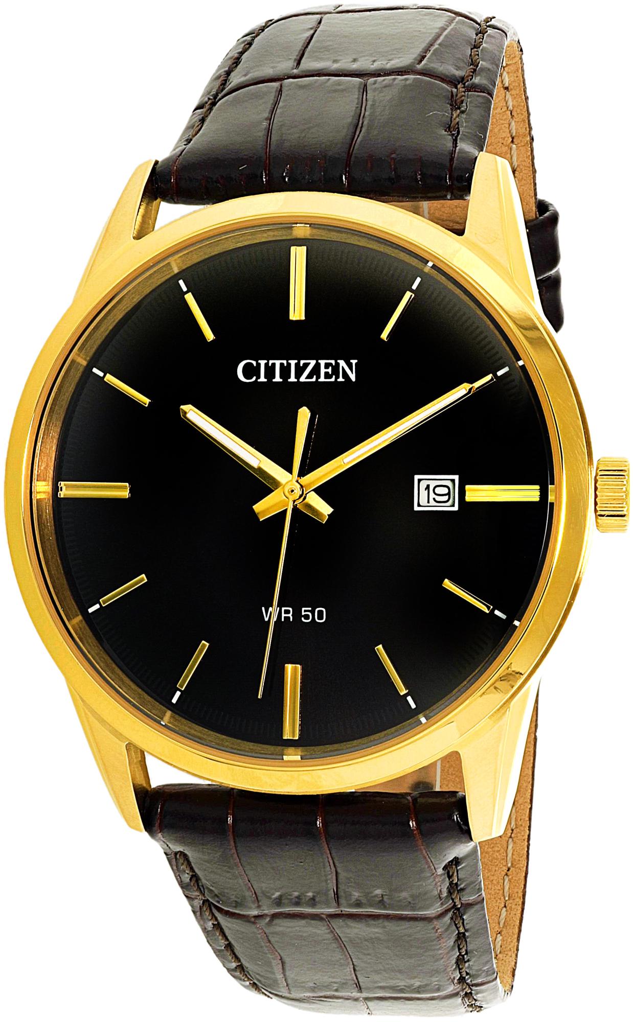 Citizen_Men's_BI5002-06E_Brown_Leather_Quartz_Fashion_Watch