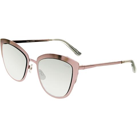 Quay Women's Mirrored Super Girl QW-000138-PNK/SLV Pink Cat Eye Sunglasses