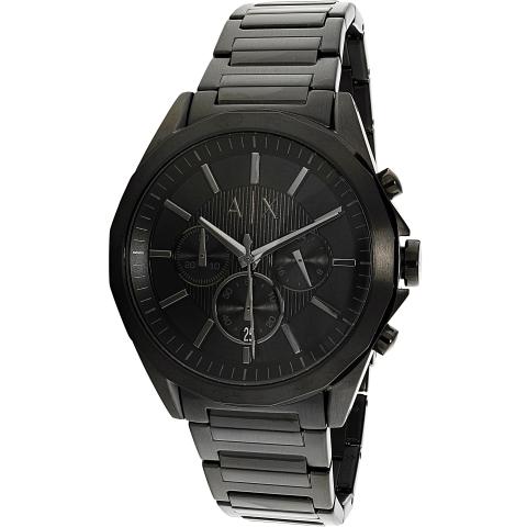 Armani Exchange Men's AX2601 Black Stainless-Steel Plated Quartz Fashion Watch