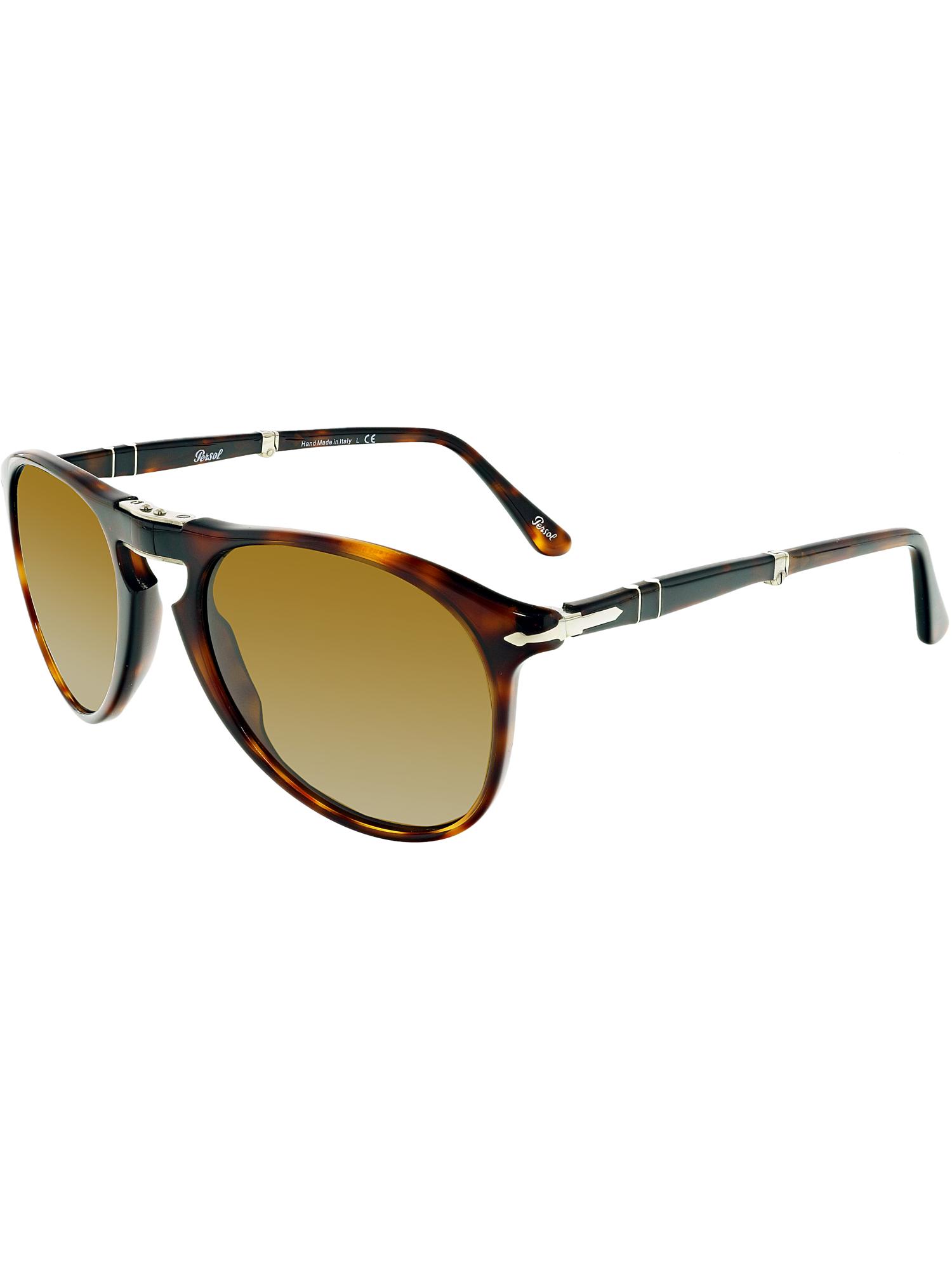 105d8c744f Persol Men s PO9714S-24 33-52 Brown Oval Sunglasses