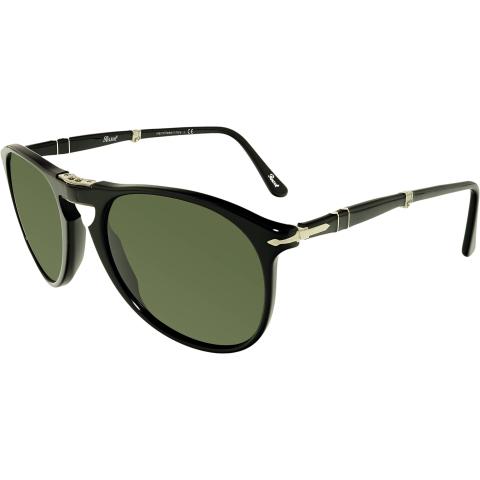 Persol Men's PO9714S-95/31-55 Black Oval Sunglasses