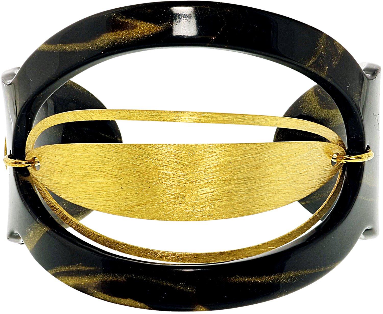 "Invicta_Women's_Melissa_Black_And_Gold_Cuff_Bracelets_Bracelet_-_7"""