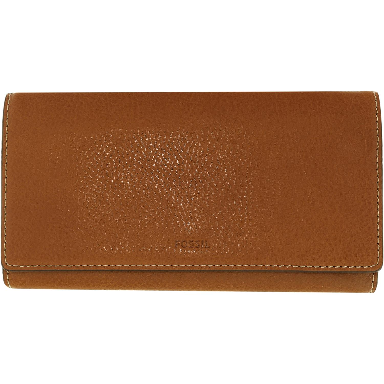 Fossil Emma RFID Leather Flap Wallet Brown Sl7155200 | eBay