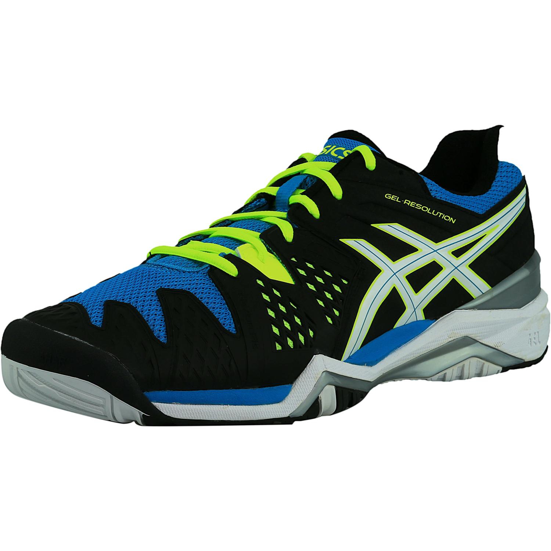 Asics Hommes Gel Résolution 6 Chaussures De Tennis - Noir / Bleu 7uz8jZEW