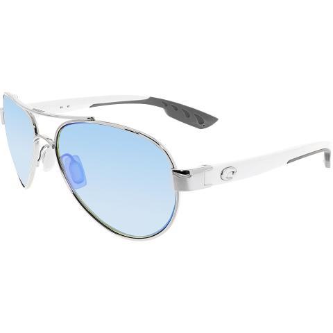 Costa Del Mar Polarized Loreta LR21OBMGLP White Aviator Sunglasses