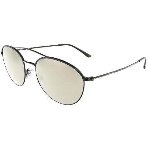 Giorgio Armani Women's Mirrored AR6032J-30015A-55 Black Oval Sunglasses