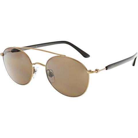 Giorgio Armani Men's AR6038-300473-50 Gold Oval Sunglasses