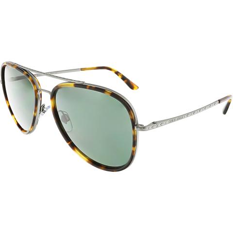 Giorgio Armani Men's AR6039-314771-56 Brown Aviator Sunglasses
