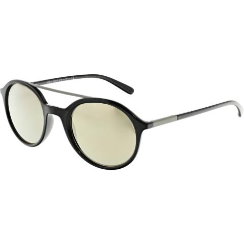 Giorgio Armani Mirrored AR8077-50175A-50 Black Round Sunglasses