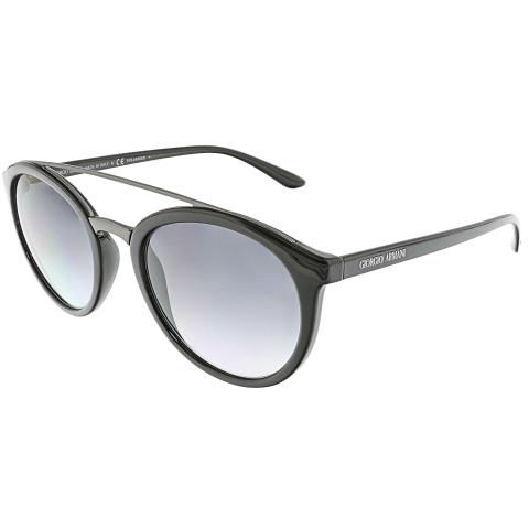 Giorgio Armani Women's Gradient AR8083-5017T3-52 Black Round Sunglasses